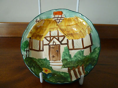 1930s Handcock & Sons Corona Ware 'Thatched Cottage' small dish