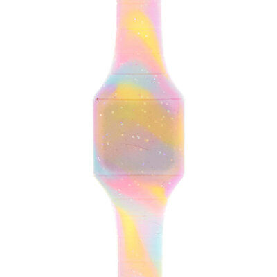 Claire's Girls and Womens Glitter Tie Dye Digital Blink Watch