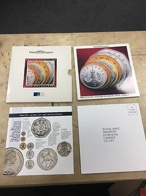 Royal Mint 1991 United Kingdom Brilliant Uncirculated Coin Collection