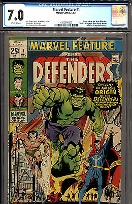 Marvel Feature Comic #1 CGC 7.0 1st Appearance Defenders Neal Adams 1971 F/VF