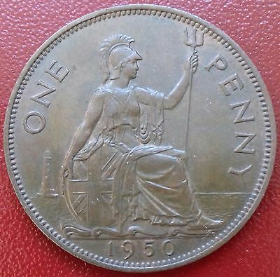 1950 Penny. Key Date. George V1 British Bronze Coins.