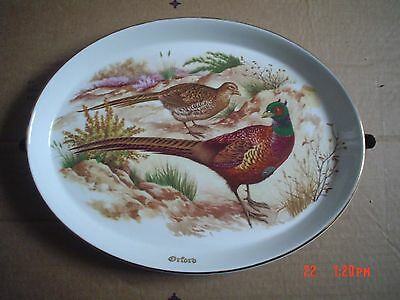 Liverpool Road Pottery Ltd Oval Pheasant Plate ORFORD