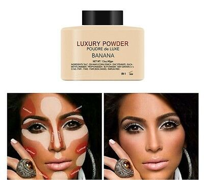 GENUINE BANANA LUXURY POWDER BRAND NEW SEALED POUDRE de LUXE.1.5OZ (42g) MAKE UP