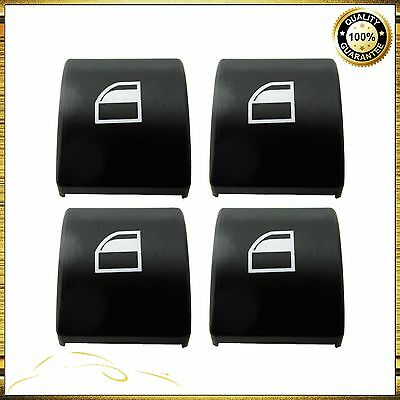 4x BMW E46 3 SERIES WINDOW SWITCH POWER BUTTON CAP COVER LEFT OR RIGHT 1998-2005