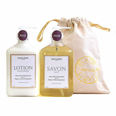 NEW Hampton Body Wash Savon & Body Lotion Gift Set by Plain and Simple Australia