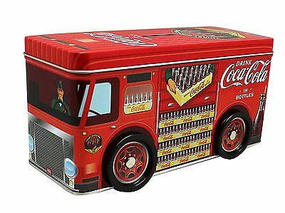 Coca-Cola Red Tin Delivery Truck Coin Bank