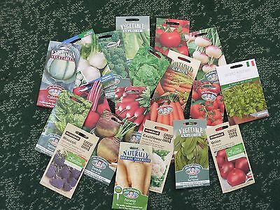 20 Vegetable seed collection including tomato onion carrot cabbage lettuce