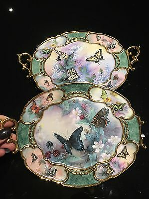 X2 Lena Liu Decorative Butterfly Collectors Plates