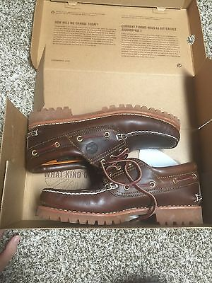 Men's Casual Shoes, Timberland Leather Lace Shoes, Size 8.5