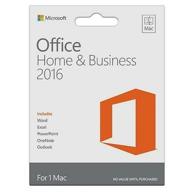 Microsoft Office 2016 Home and Business MAC [MULTI] 100% GENUINE ESD Licenza KEY