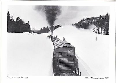 "*Postcard-""Snowplow across Reas Pass/Clearing The Tracks"" *W Yellowstone MT(#273"
