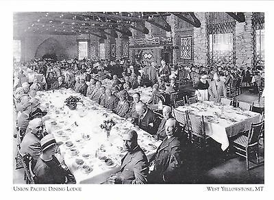 "*Postcard-""Union Pacifice Dining Lodge"" -1928- *W Yellowstone MT (#273"