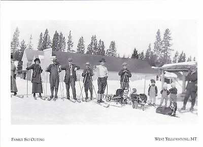 "*Postcard-""Preparing For Family Ski Outing"" *W Yellowstone MT (#273)"