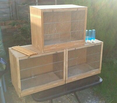 Single breeding cages x3 used bird canary finch budgie