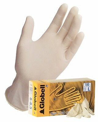 Disposable Latex - lightly Powdered - 100 gloves (Boxed) - Small - Globell