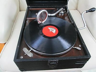 """His Masters Voice"" portable gramophone Model 101 in nice condition"