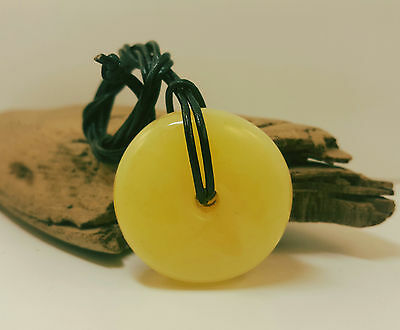 Pendant Natural Baltic Amber Stone 13,3g Butterscotch Egg Yolk White Old A-417
