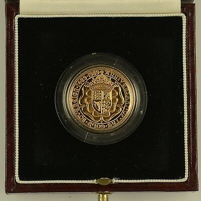 1989 TUDOR ROSE 500th ANNIVERSARY GOLD PROOF  FULL SOVEREIGN 22 CARAT - complete