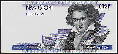 "Test Note KBA Giori Switzerland - ""Beethoven CTIP ONE"" intaglio Specimen"
