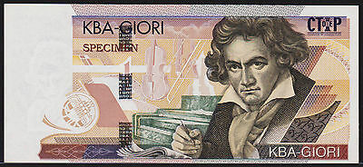"Test Note KBA Giori Switzerland ""Beethoven"" Broad Hologram Stripe feature *NEW*"