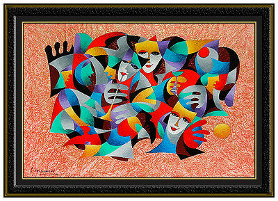 Anatole Krasnyansky ALL Original Acrylic Painting Large Abstract Signed Artwork