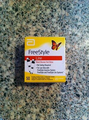 Freestyle Lite Blood Glucose Test Strips 50...New & Sealed