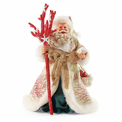 Clothtique Possible Dreams 'Coral Christmas' Santa 4050055 Department 56