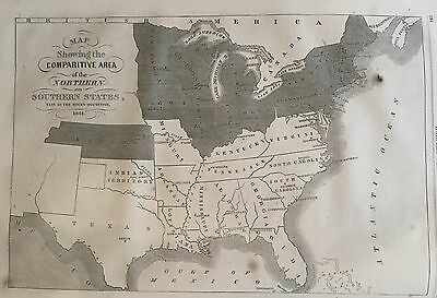 1861 illustr Civil war newspaper EARLY map ofThe CONFEDERATE STATES OF AMERICA