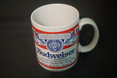 """Official product """"Budweiser King Of Beers"""" White Logo Ceramic Mug"""