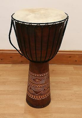 XL Djembe Drum 70cm Possibly Goat Skin and Mahagoni Wood