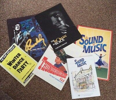 The Woman in Black, Sound of Music, Buddy, Thunderbirds, 6 programmes/brochures