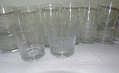 Boxed Set 12 Vintage Drinking Glasses Tumblers Galleon Design