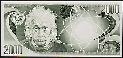 "Test Note ORGANISATION GIORI / OEBS - ""EINSTEIN 2000"" intaglio - early 1970s/80s"