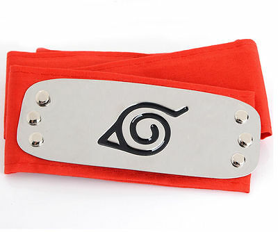 DZ776 Sale NARUTO Ninja Headband Head Band bandana Cosplay Hatake Kakashi RED ✿