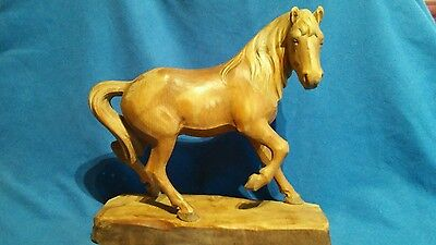 vintage carved wooden horse, collectable , equine