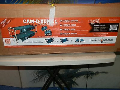 DiscoBed CamO Bunk Large w/ 2 Organizers.  New