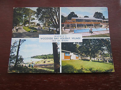Isle of Wight Warners Woodside Bay Holiday Village 1965 old postcard