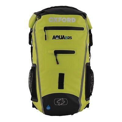 Oxford Aqua B25 Hi Vis Yellow Motorcycle Bike Backpack Rucksack New OL961