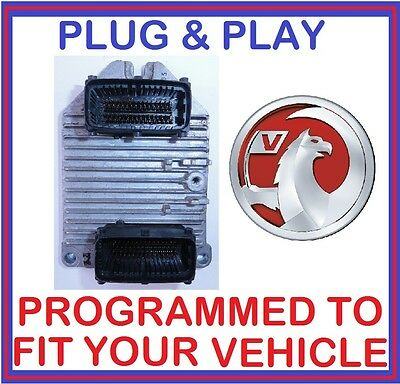 Vauxhall Opel ZAFIRA 1.8 Z18XE ENGINE ECU - 55351752 - 55 351 752 - PLUG & PLAY