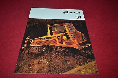 Fiat Allis Chalmers 31 Crawler Tractor Dealers Brochure YABE11 ver64