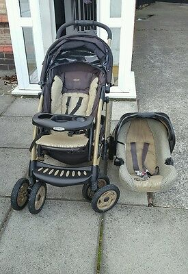 Unisex Graco Travel System including isofix and car seat