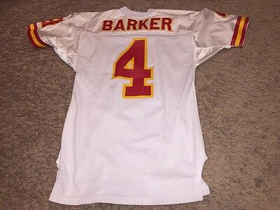Bryan Barker Game Used Worn Kansas City Chiefs Jersey NFL