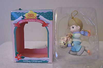 Precious Moments- Holiday Ornament ---Boy Riding Stick Pony With Mop Head