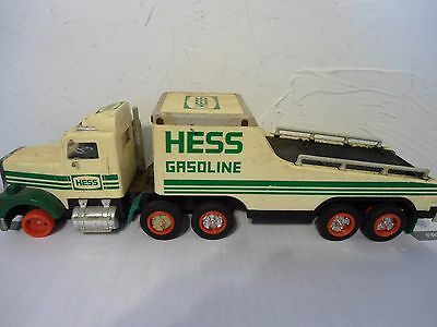 HESS GASOLINE TOY TRACTOR TRAILER MCMXCI 1991 COLLECTOR TRUCK  for parts repairs