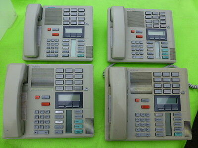 Nortel Norstar M7310 Gray - Some Discoloration - LOT OF 4 w/ Handset Cord  7310