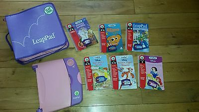 LeapPad Learning System with 6 Books, 6 Cartridges and carry case