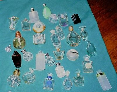 Collection of 28 Miniature Perfume Bottles