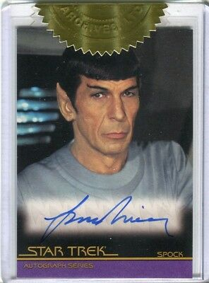 Star Trek Movies in Motion 6 Case Incentive Card Leonard Nimoy Spock Autograph
