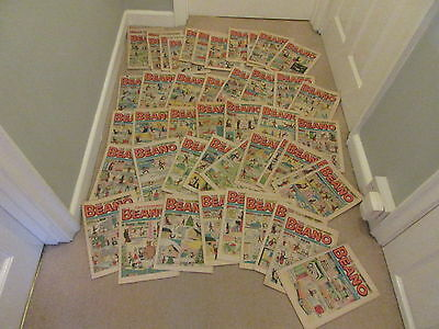 BEANO COMICS  FROM 1973 X 45- JOB LOT-Near complete Year, Missing 5- VGC