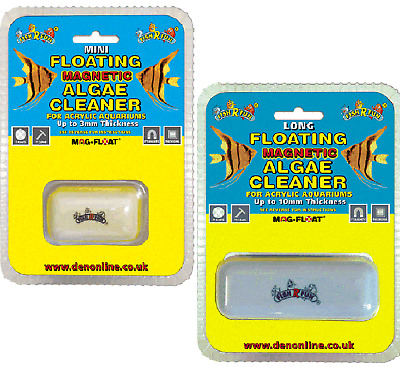 MAGNETIC ACRYLIC CLEANER - (small - med) - Fish R Fun Mag Float dm Algae Cleaner